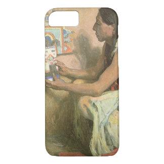ヴィンテージのネイティブアメリカン、Couse著ホピー族Katchina iPhone 8/7ケース