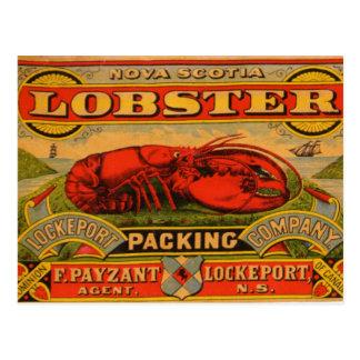 ヴィンテージのノバスコシアのロブスターの郵便はがき ポストカード