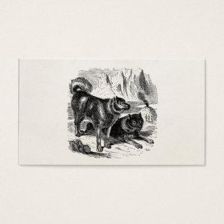 ヴィンテージのハスキーなそり犬の19世紀のハスキーのアラスカ州人犬 名刺