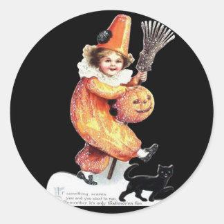 ヴィンテージのハロウィンのきらめくな衣裳のパーティー ラウンドシール