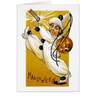 ヴィンテージのハロウィンのピエロ カード