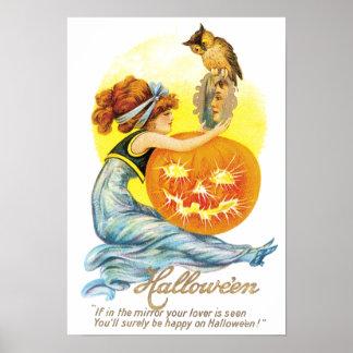 ヴィンテージのハロウィンのプリント ポスター