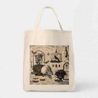 ヴィンテージのハロウィンのモダンな庭 トートバッグ