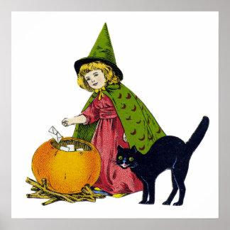 ヴィンテージのハロウィンの子供 ポスター