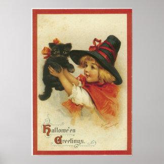 ヴィンテージのハロウィンの挨拶ポスター ポスター