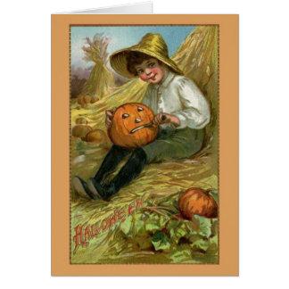 ヴィンテージのハロウィンの挨拶状 グリーティングカード
