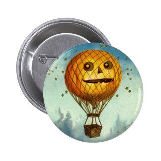 ヴィンテージのハロウィンの熱気の気球Pin 5.7cm 丸型バッジ