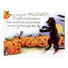 ヴィンテージのハロウィンの芸術の郵便はがき ポストカード