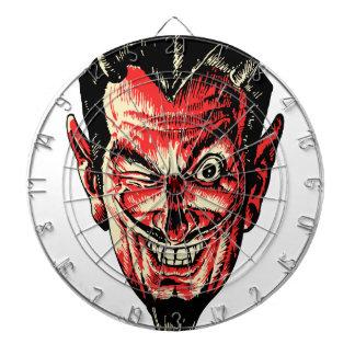 ヴィンテージのハロウィンの赤い悪魔の頭部 ダーツボード
