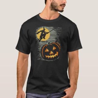 ヴィンテージのハロウィンの魔法使いおよびJOLのTシャツ Tシャツ