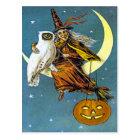 ヴィンテージのハロウィンの魔法使い ポストカード