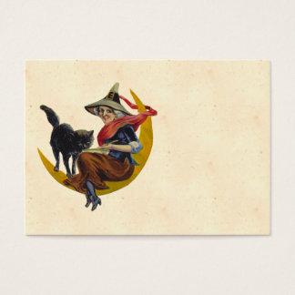 ヴィンテージのハロウィンの魔法使い 名刺