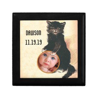 ヴィンテージのハロウィンの黒猫 ギフトボックス