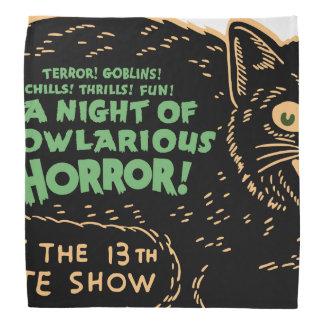 ヴィンテージのハロウィンの黒猫 バンダナ