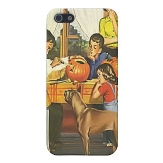 ヴィンテージのハロウィン家族のカボチャ iPhone 5 COVER