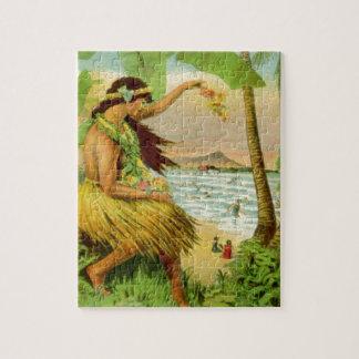 ヴィンテージのハワイ旅行 ジグソーパズル