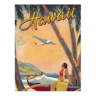 ヴィンテージのハワイ旅行 葉書き