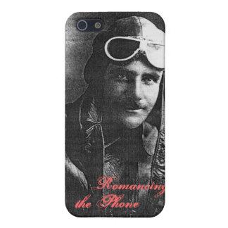 ヴィンテージのハンサムな飛行士のおもしろいな精通したiPhone 5の場合 iPhone 5 カバー