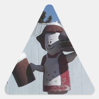 ヴィンテージのハンバーガーの女性 三角形シール