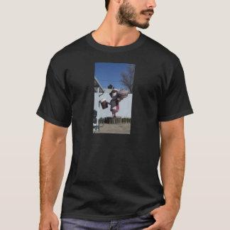 ヴィンテージのハンバーガーの女性 Tシャツ