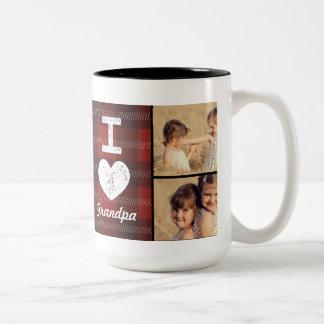 ヴィンテージのハートのカスタムな写真のマグ ツートーンマグカップ