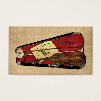 ヴィンテージのバイオリンのイラストレーション 名刺
