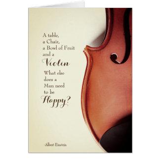 ヴィンテージのバイオリンの引用文カード カード