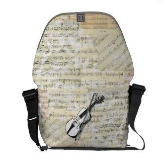 ヴィンテージのバイオリン音楽メッセンジャーバッグ メッセンジャーバッグ