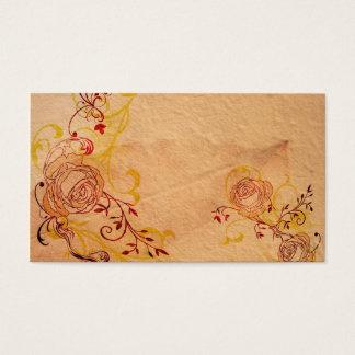 ヴィンテージのバラのプロフィールカード 名刺
