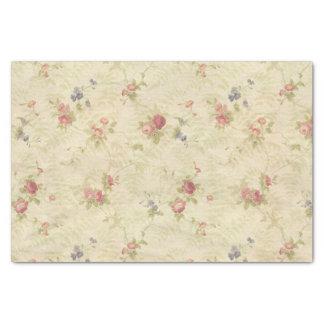 ヴィンテージのバラの古く動揺してな生地パターン 薄葉紙