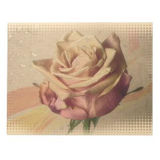 ヴィンテージのバラの美しい絵 ノートパッド