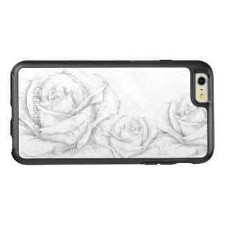 ヴィンテージのバラの花の灰色の装飾的 オッターボックスiPhone 6/6S PLUSケース
