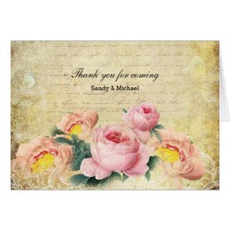 ヴィンテージのバラ グリーティングカード