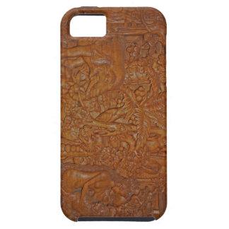 ヴィンテージのバリ島木芸術 iPhone SE/5/5s ケース