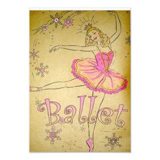 ヴィンテージのバレエの招待状 カード