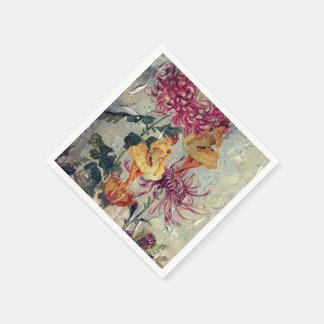 ヴィンテージのバレリーナのダンサーの花の絵画 スタンダードカクテルナプキン