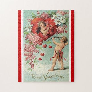 ヴィンテージのバレンタインのパズル ジグソーパズル