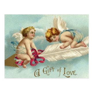 ヴィンテージのバレンタインの天使の天使 ポストカード