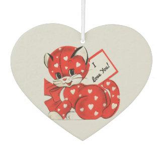 ヴィンテージのバレンタインの子猫 カーエアーフレッシュナー