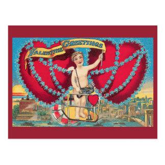 ヴィンテージのバレンタインの挨拶 ポストカード