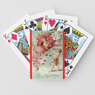 ヴィンテージのバレンタインの遊ぶカード バイスクルトランプ