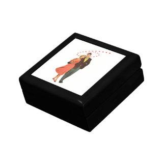 ヴィンテージのバレンタインデー、ロマンチックな浮遊ハート ギフトボックス