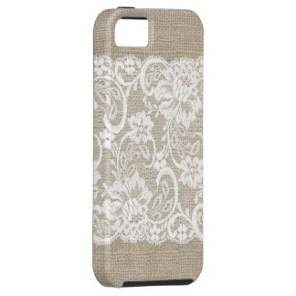 ヴィンテージのバーラップ及びレースのiPhoneの場合 iPhone 5 Case-Mate ケース