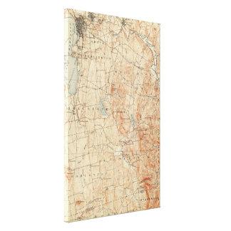ヴィンテージのバーリントンヴァーモントの地形図(1904年) キャンバスプリント