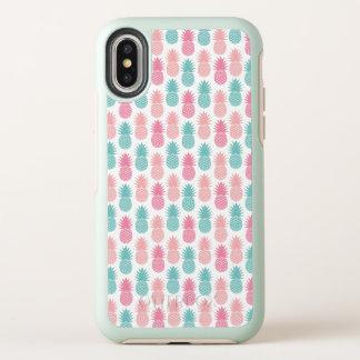 ヴィンテージのパイナップルパターン オッターボックスシンメトリー iPhone X ケース