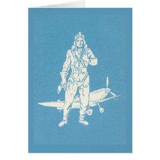 ヴィンテージのパイロットおよび飛行機の芸術 カード