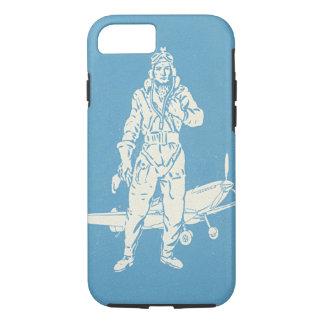 ヴィンテージのパイロットおよび飛行機の芸術 iPhone 7ケース