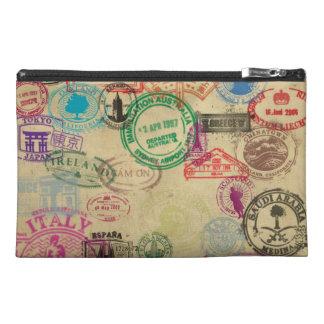 ヴィンテージのパスポートのスタンプ トラベルアクセサリーバッグ