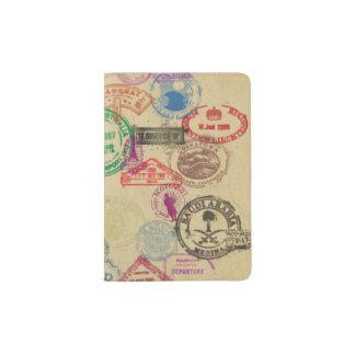 ヴィンテージのパスポートのスタンプ パスポートカバー