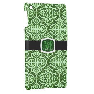 ヴィンテージのパターン(の模様が)あるなクローバー(緑) iPad MINI CASE